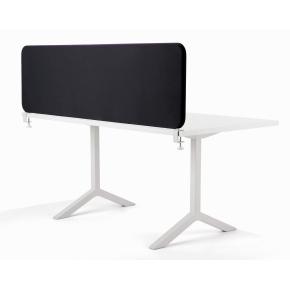 Softline bordskærmvæg sort B600xH590 mm