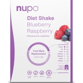 Nupo Diet shake blåbær/hindbær, 384g