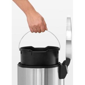 Brabantia Pedalspand 20 liter Slimline, mat stål
