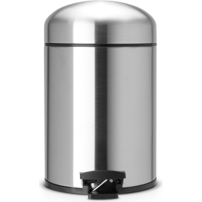 Brabantia Retro Pedalspand 5 liter, mat stål
