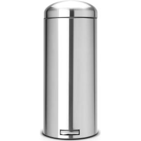 Brabantia Retro Pedalspand 30 liter, mat stål