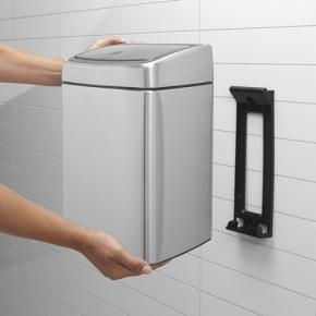 Brabantia Touch Bin Rekt. 10 liter, mat stål