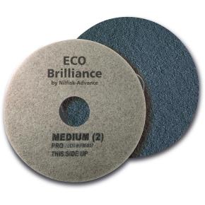 """Nilfisk Eco Brilliance Pads 14"""", blå, 2 stk."""