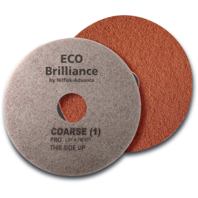 "Nilfisk Eco Brilliance Pads 17"", rød, 2 stk."