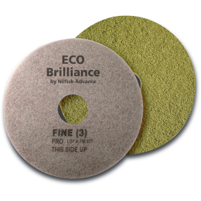 "Nilfisk Eco Brilliance Pads 17"", gul, 2 stk."