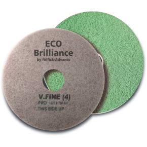 "Nilfisk Eco Brilliance Pads 17"", grøn, 2 stk."