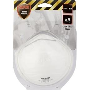 Støvfiltermaske, 5 stk.