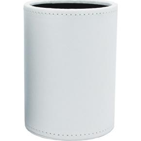 Mayland Penholder, kunstskind, 8 x 10,5 cm, hvid