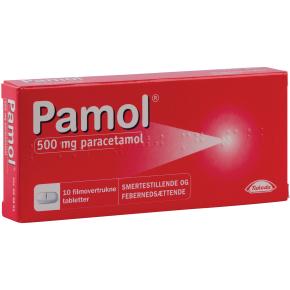 Pamol Tabletter, 500 mg, 10 stk.