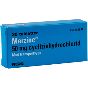 Marzine Tabletter, 50 mg, 30 stk.