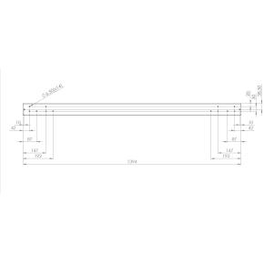 Screenit slide monteringsskinne L 140 cm