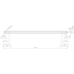 Screenit slide monteringsskinne L 200 cm