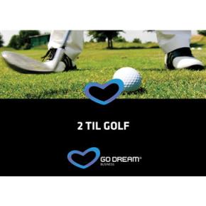 Oplevelsesgave - 2 til golf