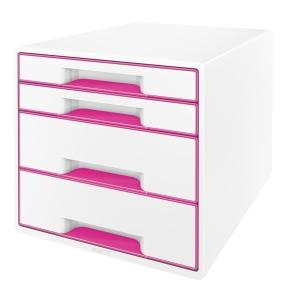 Leitz WOW CUBE skuffekabinet, 4 skuffer, pink
