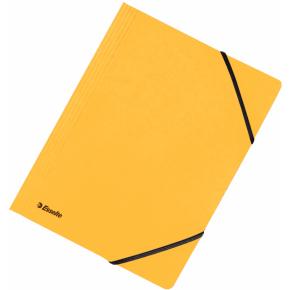 Esselte elastikmappe A4, uden klap, gul