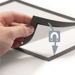 Durable DURAFRAME Security A4, gul/sort (2 stk)