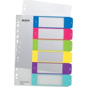 Leitz WOW Printbare registre, A4, 1-6