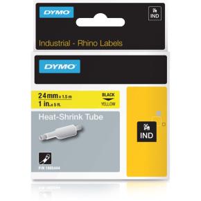 Dymo RHINO HST sort på gul 24 mm