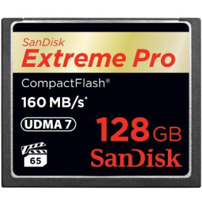 SanDisk Compact Flash Extreme Pro 160MB/sek 128GB