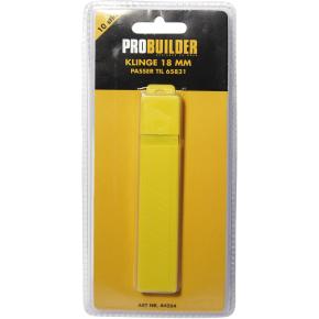 Probuilder knivblade, 18 mm, 10 stk.