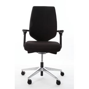 Menta kontorstol med polsteret ryg sort