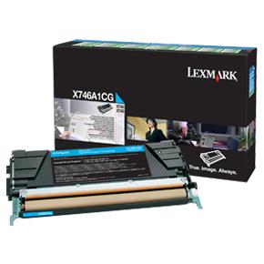 Lexmark X746A1CG Lasertoner, blå, 7000 s.
