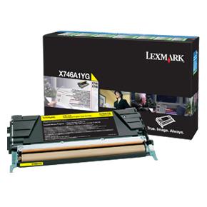 Lexmark X746A1YG lasertoner, gul, 7000 s.