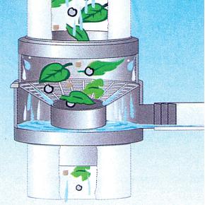 Garantia nedløbsventil m/ løvsamler