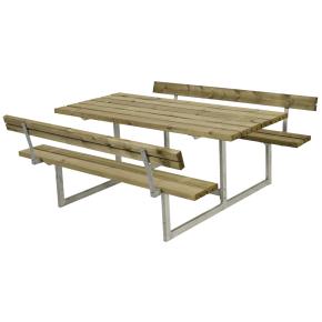 Plus Basic bord-bænkesæt m. ryglæn, Natur