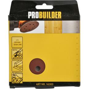 Probuilder sliberondeller, 125 mm, g240