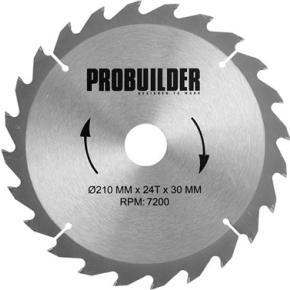Probuilder klinge, 210x30x2,2 mm, t24