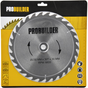 Probuilder klinge, 230x30x1,6 mm, t30