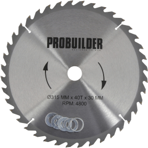 Probuilder klinge, 315x30x3 mm, t40