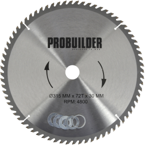 Probuilder klinge, 315x30x3 mm, t72