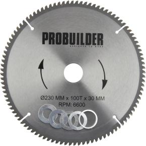 Probuilder klinge, 230x30x2,8 mm, t100