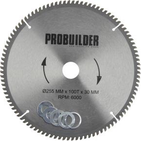 Probuilder klinge, 255x30x2,8 mm, t100