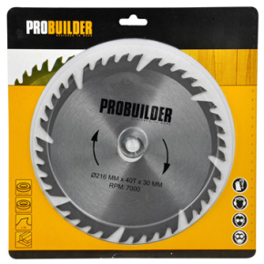 Probuilder kombi-klinge, 216x30x3,2 mm, t40