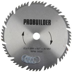Probuilder kombi-klinge, 305x30x3,2 mm, t60