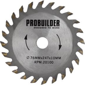 Probuilder klinge, 76x1,1x10 mm, 24t hm