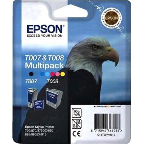 Epson T007+ T008 blækpatroner, sampak, 540s