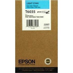 Epson C13T603500 blækpatron, Lys blå, 220ml