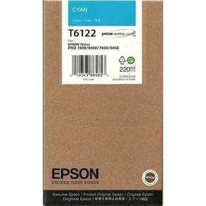 Epson C13T612200 blækpatron, blå, 220ml