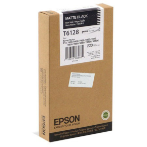 Epson C13T612800 blækpatron, matsort, 220ml