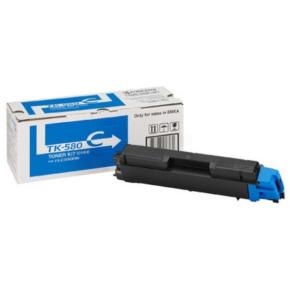 Kyocera TK-580C  lasertoner, blå, 2800s