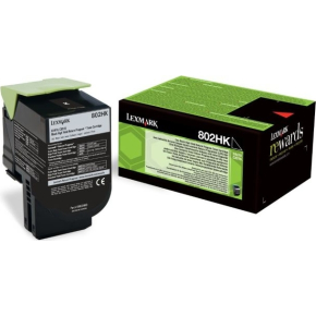 Lexmark 80C2HKE lasertoner, sort, 4000s