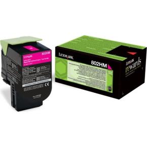 Lexmark 80C2HM0 lasertoner, rød, 3000s