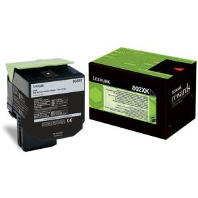 Lexmark 80C2XK0 lasertoner, sort, 8000s