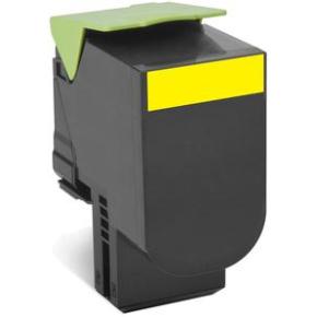 Lexmark 80C2XYE lasertoner, gul, 4000s