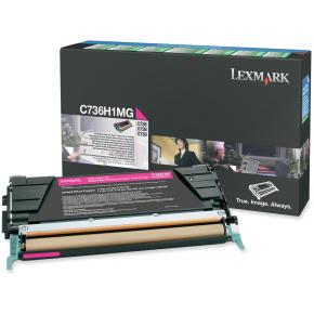 Lexmark C736H1MG lasertoner, rød, 10000s