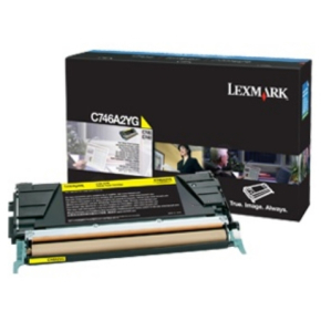 Lexmark C746A3YG lasertoner, gul, 7000s